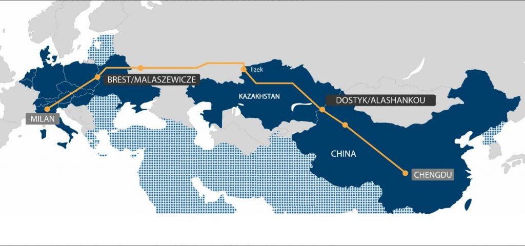 Le premier train de fret entre la Chine et l'Italie arrivera le 12 février à Milan