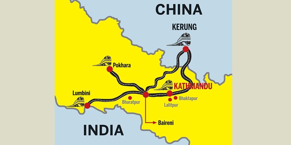 Népal : chemins de fer transfrontaliers en construction avec la Chine et l'Inde