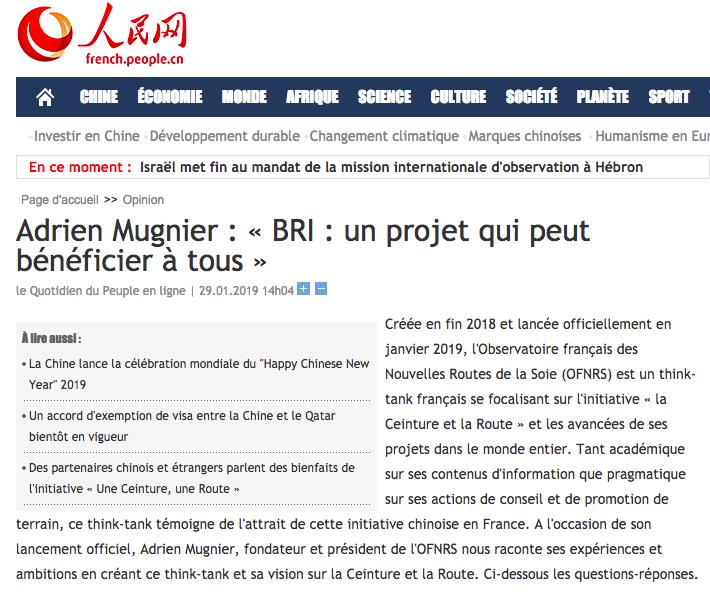 Interview de Adrien Mugnier  « Les Routes de la Soie : un projet qui peut bénéficier à tous »